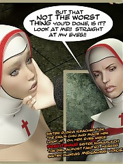 Suffering Sinner. Submissive futa was severely spanked by filthy futanari nuns